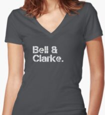 Erasure [line-up] Women's Fitted V-Neck T-Shirt