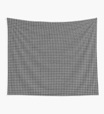 Grey and black Houndstooth  Wall Tapestry