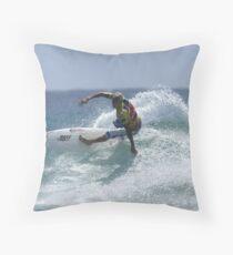 Mick Fanning at Snapper Rocks Throw Pillow