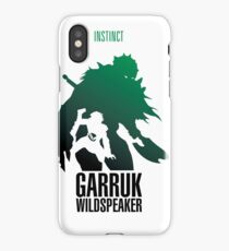 Green silhouette iPhone Case/Skin
