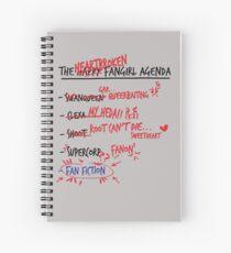 The heartbroken fangirl agenda Spiral Notebook