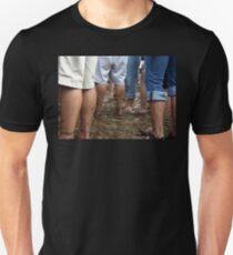 muddy feet at ACL Unisex T-Shirt