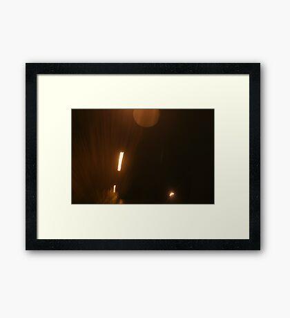 Moving Lights Framed Print