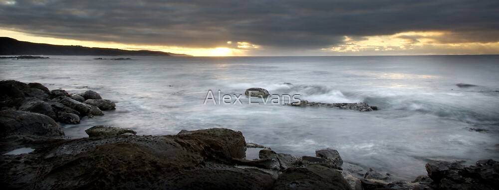 Blanket Bay Sunrise by Alex Evans