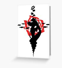 Twisted Fate Rose Greeting Card