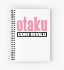 Otaku Confirmed (Pink / Black) Spiral Notebook