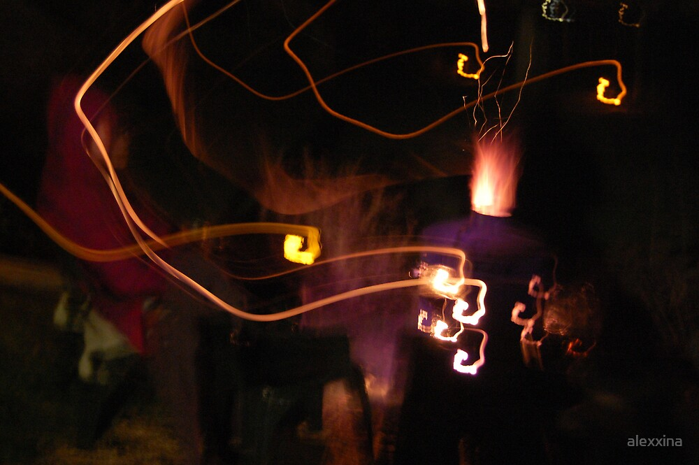 Fire in the dark by alexxina