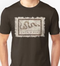 Join or die, Benjamin Franklin's historical warning Unisex T-Shirt