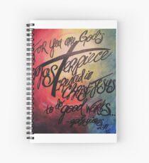 God Masterpiece Cross Spiral Notebook