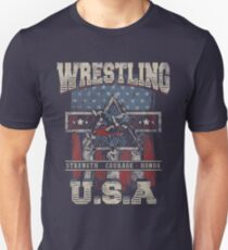 USA Wrestling T Shirts - For Youth, Men Long and Short sleeve Unisex T-Shirt