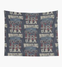 USA Wrestling T Shirts - For Youth, Men Long and Short sleeve Wall Tapestry