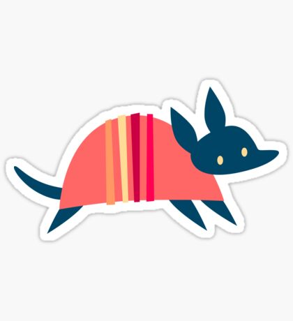Happy Armadillos Sticker