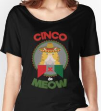 Funny Cat for Cinco de Mayo Mexican Holiday and Fiesta Women's Relaxed Fit T-Shirt