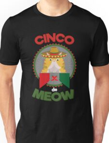 Funny Cat for Cinco de Mayo Mexican Holiday and Fiesta Unisex T-Shirt
