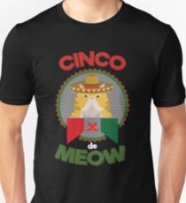 Funny Cat for Cinco de Mayo Mexican Holiday and Fiesta T-Shirt