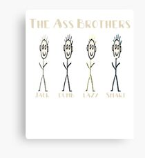 The Ass Brothers Jack Dumb Lazy & Smart Canvas Print
