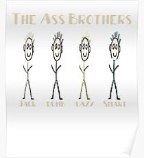 The Ass Brothers Jack Dumb Lazy & Smart Poster