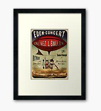 Antique French Circus Poster - Eden Concert (1884) Framed Print
