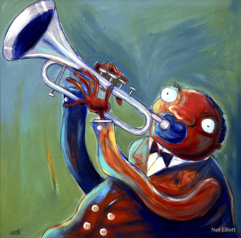 Trumpet player by Neil Elliott