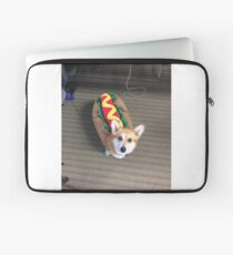 Corgi in a hot dog costume Laptop Sleeve
