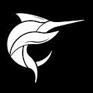 Black Marlin Blog Logo - White on Black by blackmarlinblog
