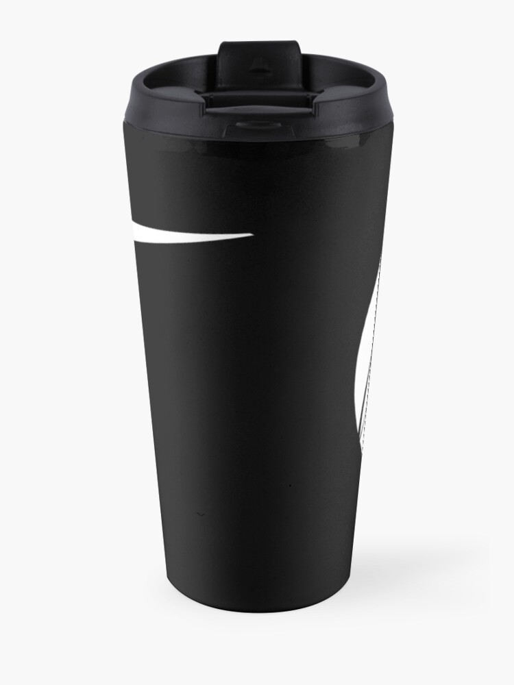 Alternate view of Black Marlin Blog Logo - White on Black Travel Mug