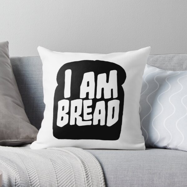 I am Bread 'mono' logo - Official Merchandise Throw Pillow