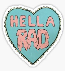 Hella Rad Heart Sticker