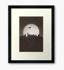 Superhero at Night Framed Print