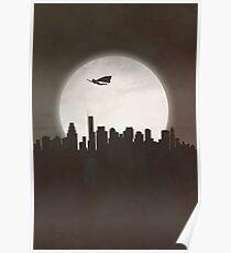 Superhero at Night Poster