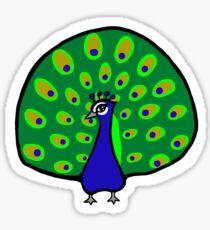 Dashing Peacock Sticker