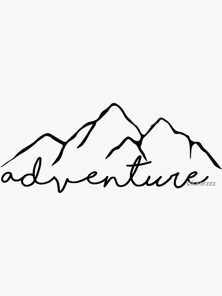 Etiqueta engomada de la aventura de stickerzzz