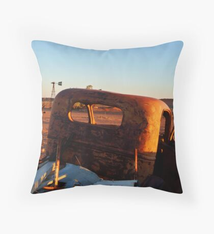 Old Andado Station Simpson Desert Throw Pillow
