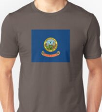 Idaho Flag - USA State Sticker T-Shirt Duvet Unisex T-Shirt