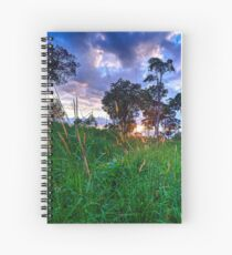 Moon mountain sunset in Thailand Spiral Notebook