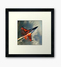 Fighter Jet Military airplane speed                                                             Framed Print