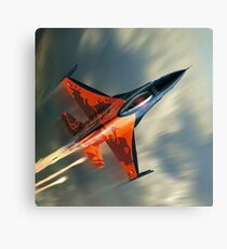 Fighter Jet Military airplane speed                                                             Canvas Print