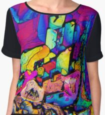 Graphic Amino Chiffon Top