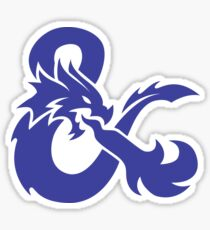 DND Blue Logo Sticker