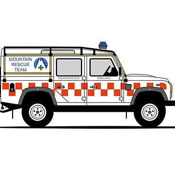 A Graphical Interpretation of the Defender 110 Utility Station Wagon Mountain Rescue  by 3pedaldriving