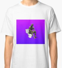 Thinker on the Crapper - Pink and Blue Version Classic T-Shirt