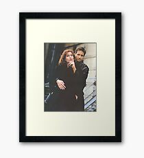 Scully and Mulder / X-Files Framed Print