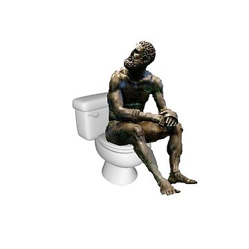 Thinker on the Crapper - No Background by Binsworth