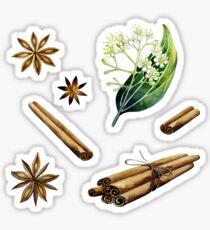 Watercolor cinnamon set Sticker