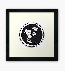 Flat Earth Maps Framed Print