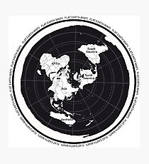 Flat Earth Maps Photographic Print