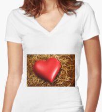 Fragile Heart Women's Fitted V-Neck T-Shirt
