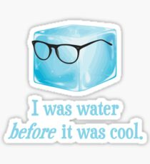 Hipster Ice Cube Was Water Before It Was Cool Sticker