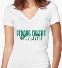 Loyola University Maryland - Strong Truths Well Lived Women's Fitted V-Neck T-Shirt