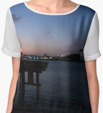 Sunset on the Harbor - Newcastle, Australia Chiffon Top